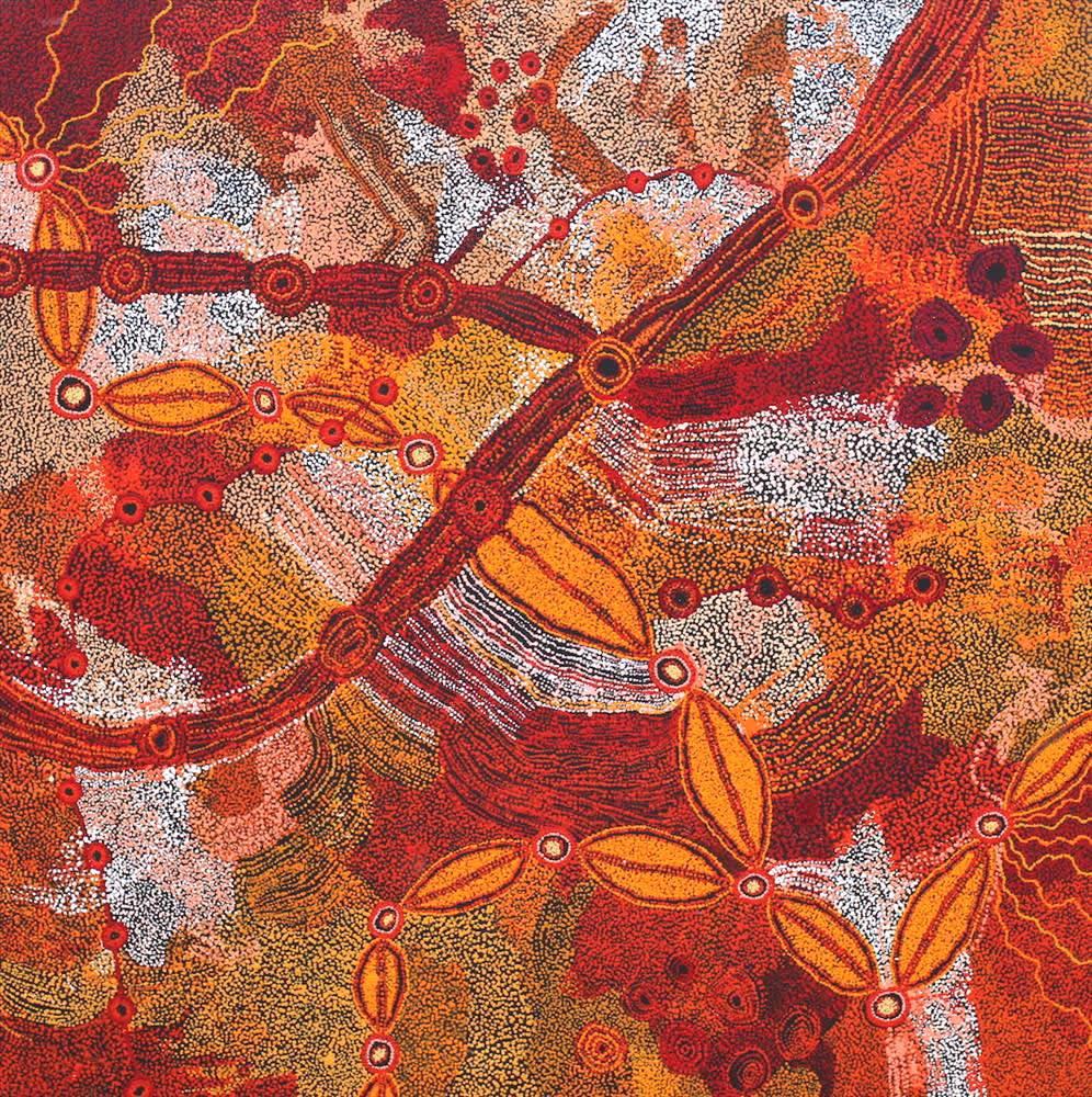 Collaborative Work (TJALA 2) Seven Sisters Story acrylic on linen 197 x 198 cm