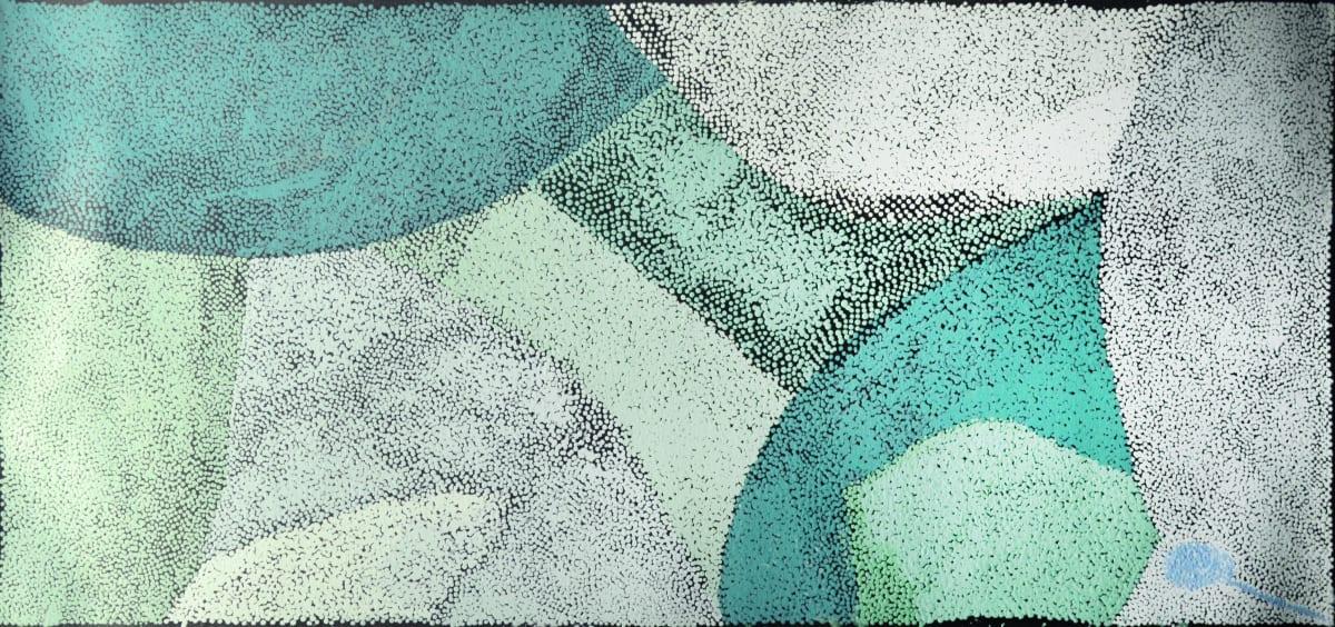 Pepai Jangala Carroll Walungurru acrylic on canvas 68 x 150 cm