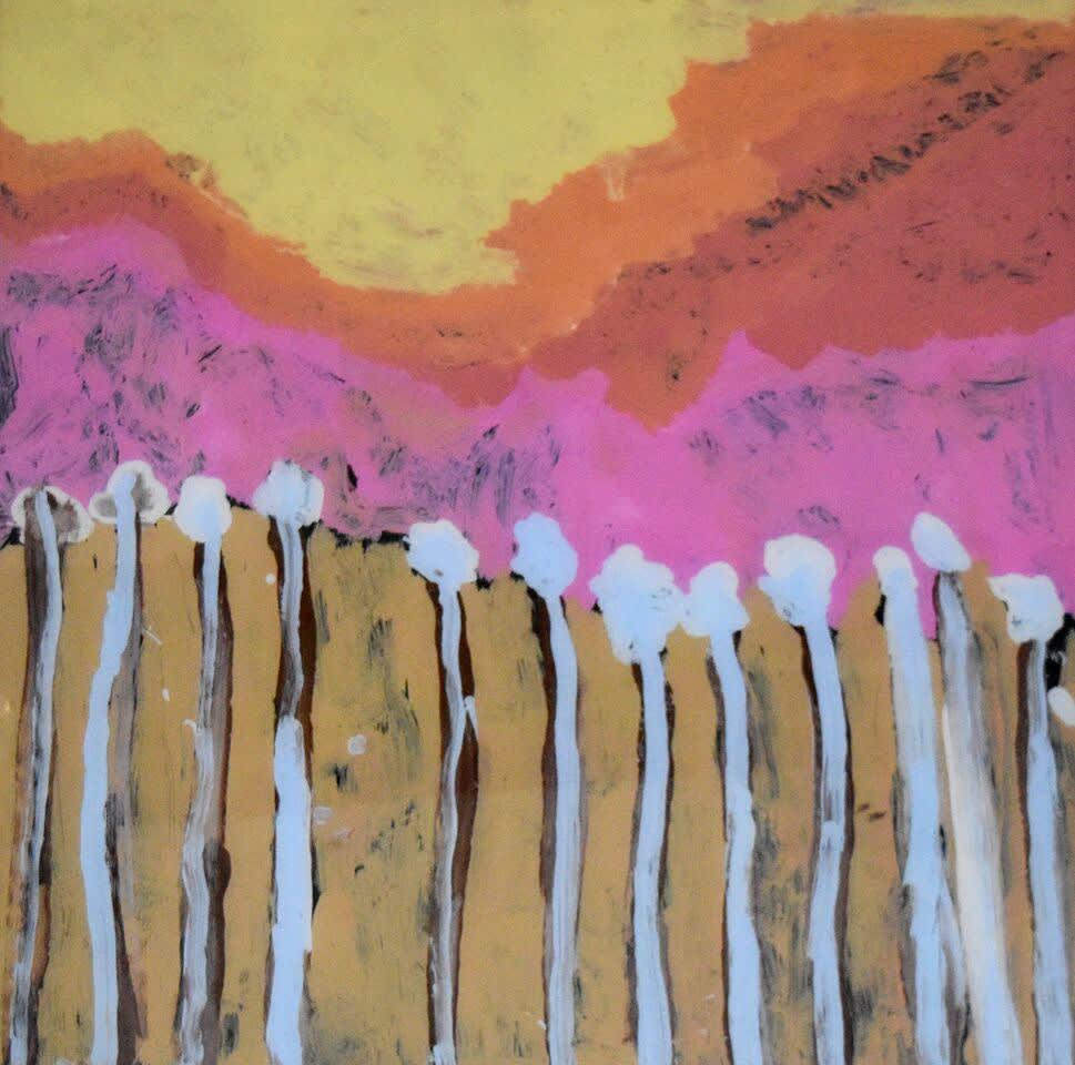 Lisa Uhl Heat of the Day acrylic on polycarbonate 90 x 90 cm