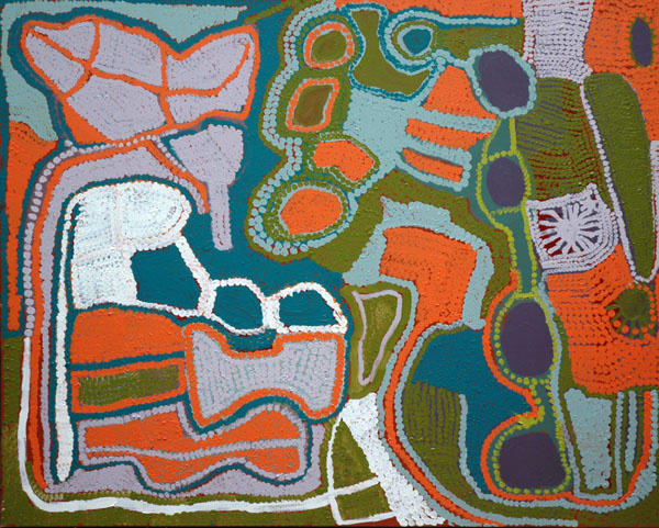 Weaver Jack Naru acrylic on canvas 152 x 122 x 3 cm