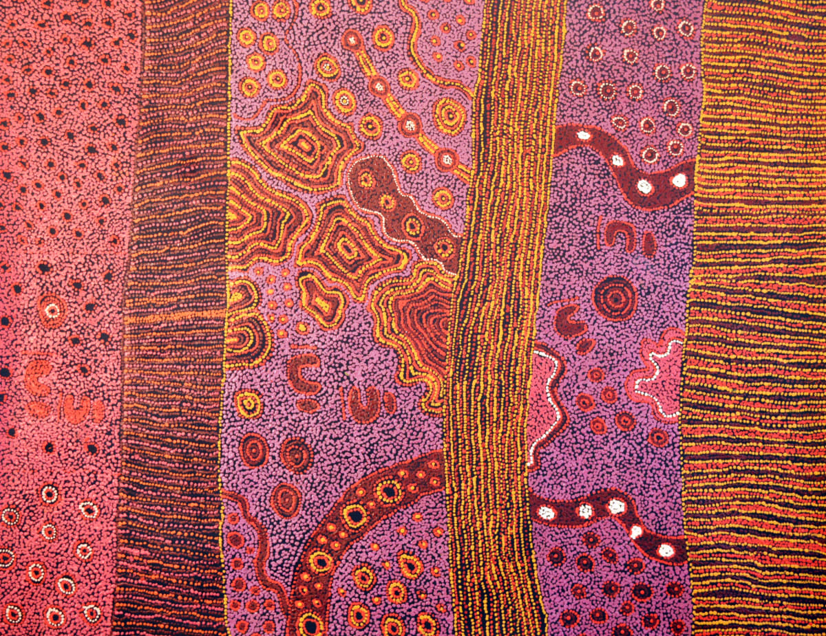 Janice Woods Minyma Kutjara acrylic on canvas 152 x 120 cm