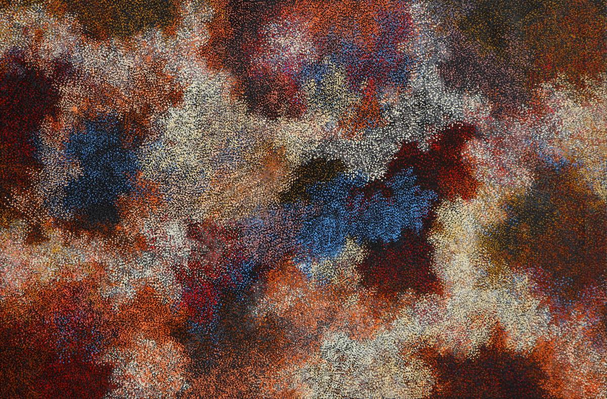 Vicki Cullinan Kililpi unngu Munga ilkari (Stars in Night Sky) acrylic on canvas 112 x 167 cm