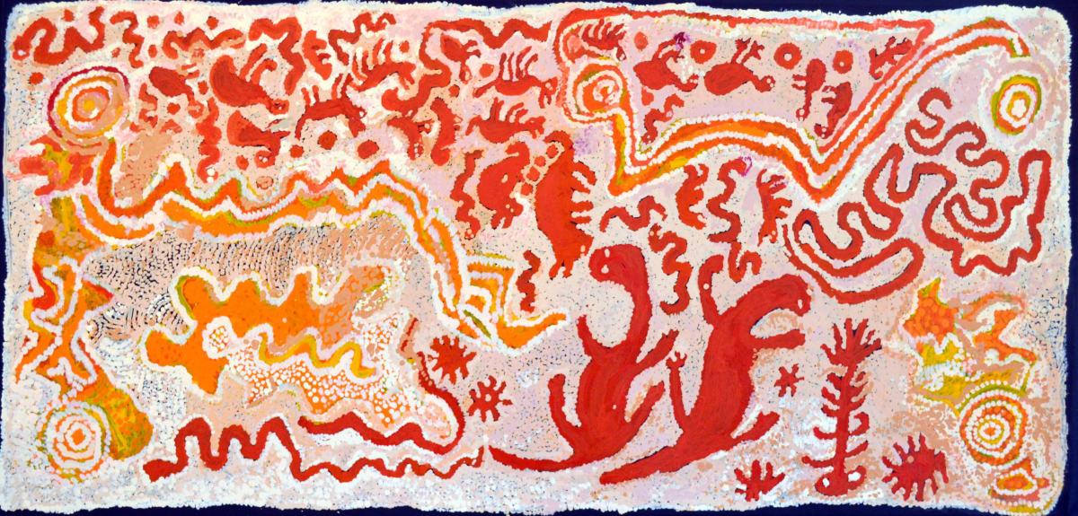 Pantjiti Lionel Putitja acrylic on canvas 68 x 148 cm