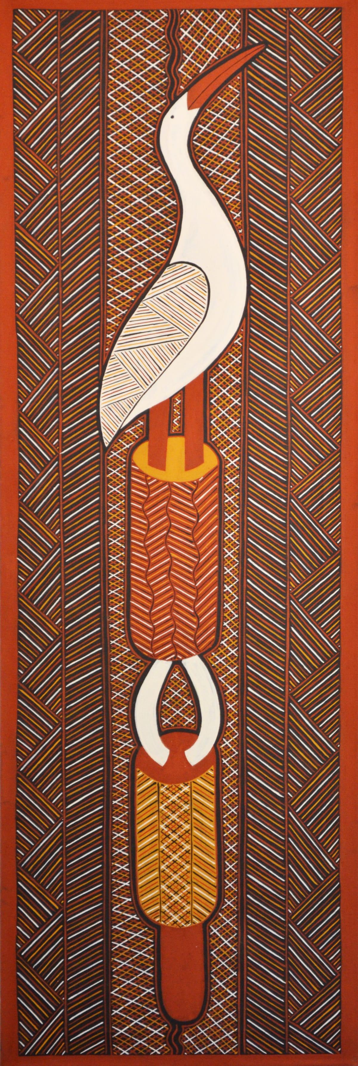Nicholas Mario Untitled natural ochres on canvas 180 x 60 cm