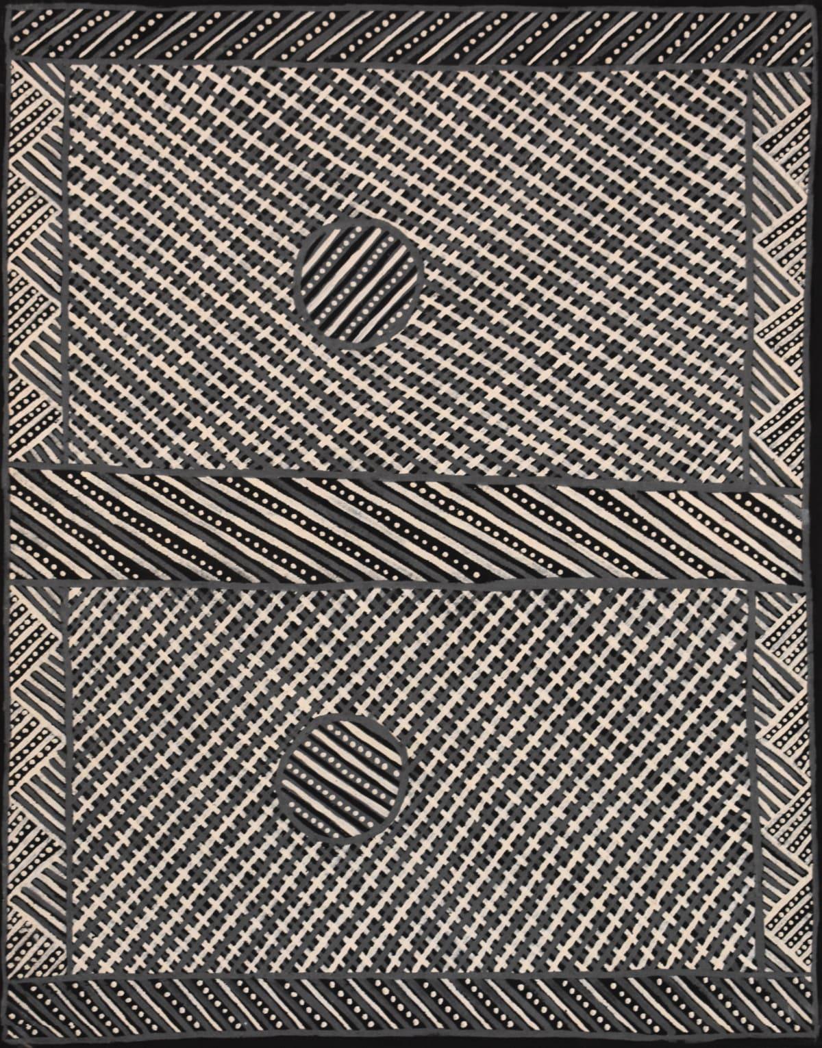Raymond Bush Jilamara natural ochres on linen 70 x 90 cm