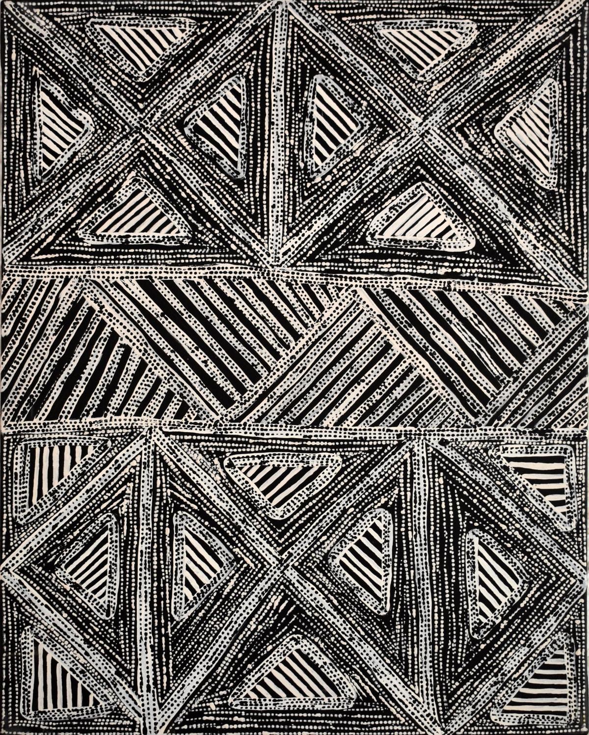 Michelle Woody Minnapinni Jilamara natural ochres on canvas 70 x 90 cm