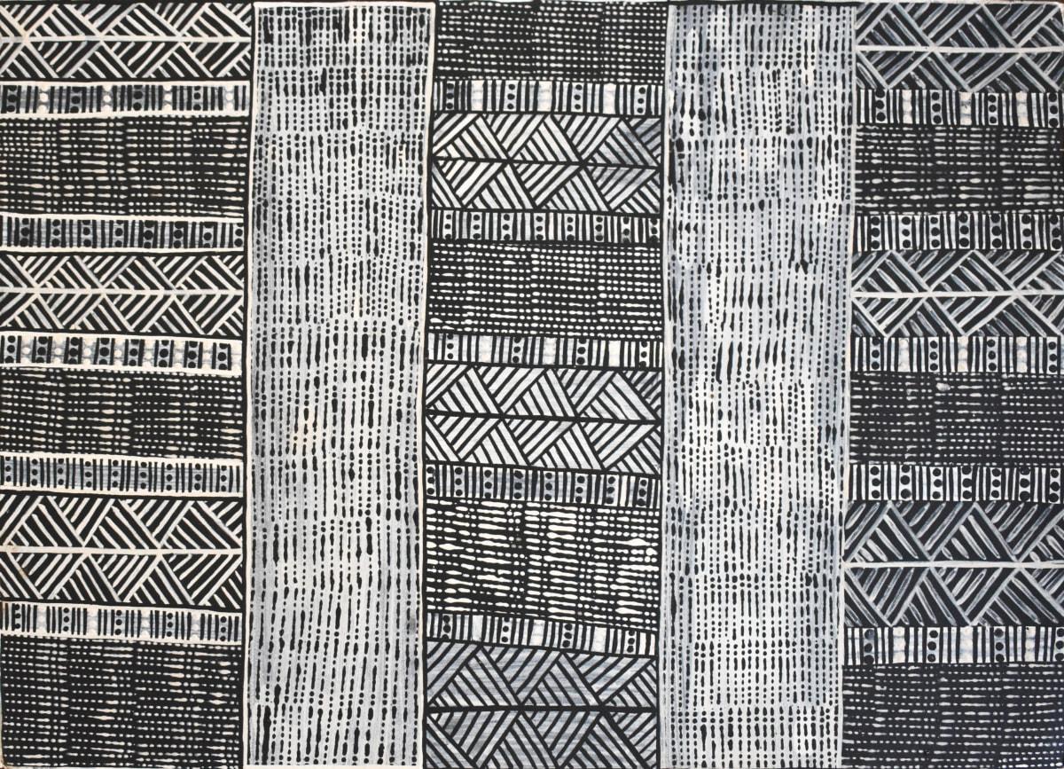 Geraldine Francine Pilakui Jilamara natural earth pigment on paper 56 x 76 cm