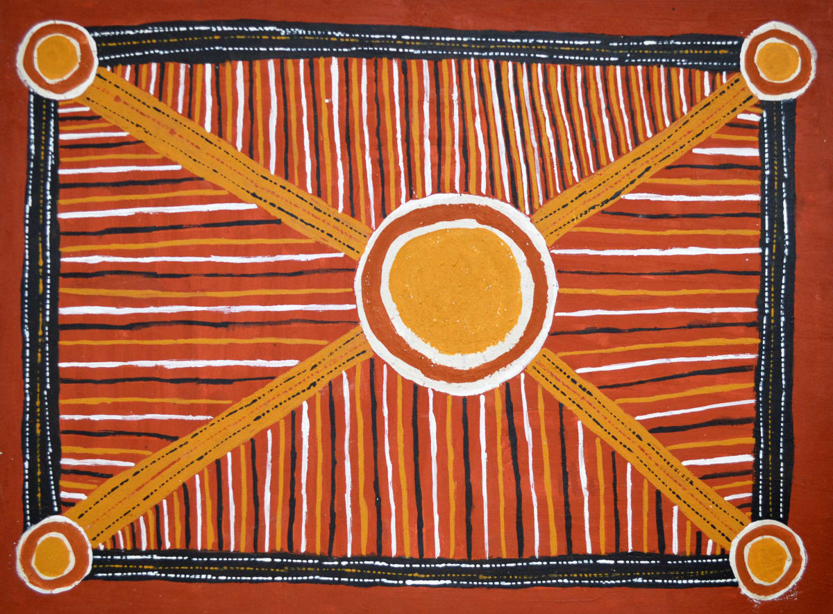 Michelle Pauline Maxwell Bush Parlini Jilamra natural ochres on arches paper 56 x 76 cm