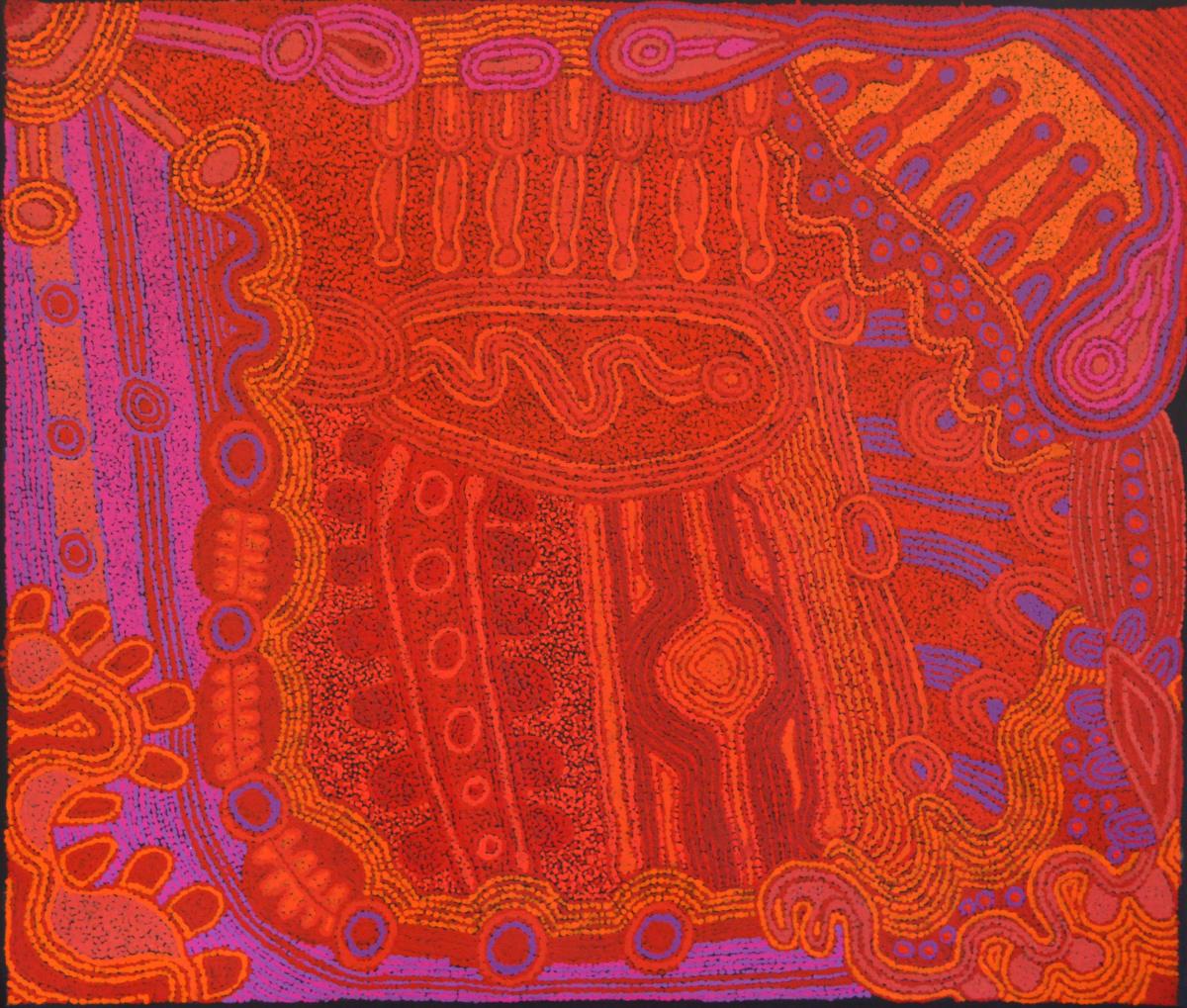 Unurupa Kulyuru Ngayuku ngura - My Country acrylic on canvas 84 x 100 cm