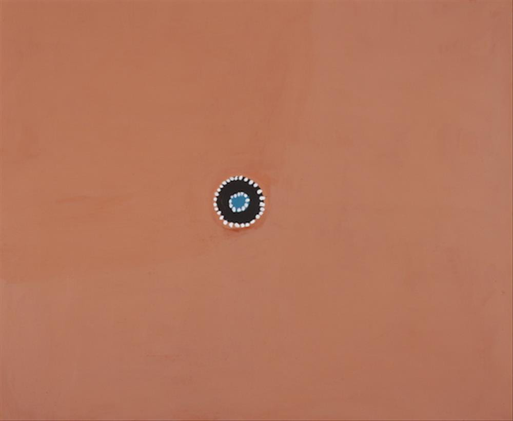 Rammey Ramsey Warlawoon Country natural ochre and pigments on canvas 100 x 120 cm