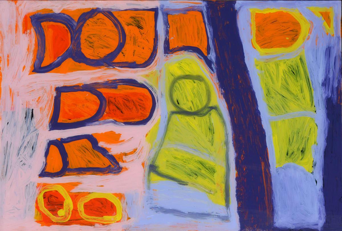 Daisy Japulija Billabongs acrylic on polycarbonate 60 x 90 cm