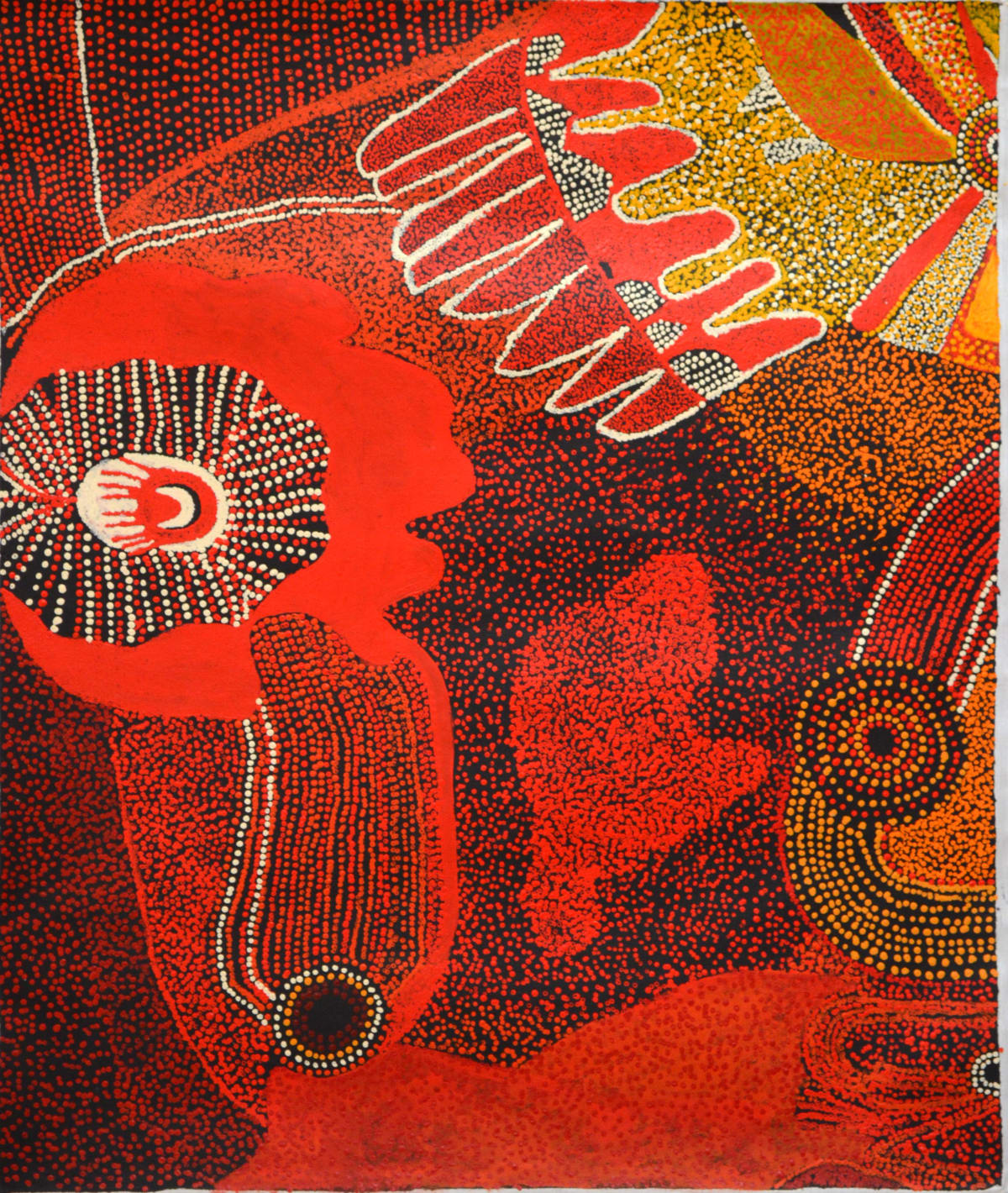 Bradley Tunkin Kalaya Tjukurpa (Emu Dreaming) acrylic on linen 100 x 120 cm