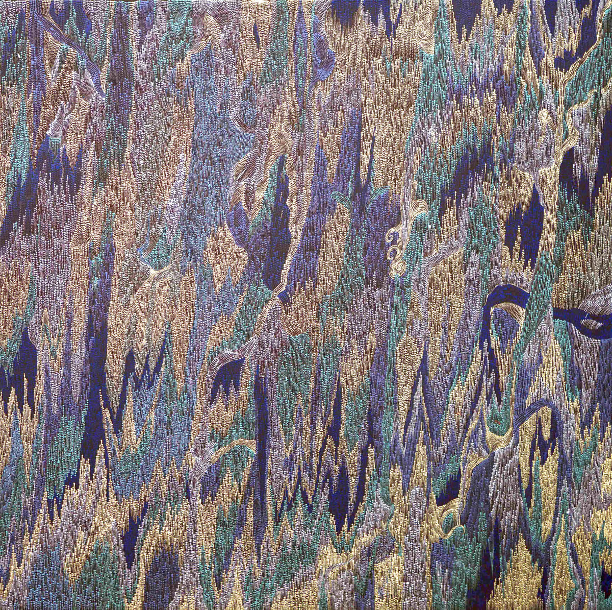 Lynette Lewis Womikata Walka Tali Sand Dune, 2019 Acrylic on Canvas 100x100cm