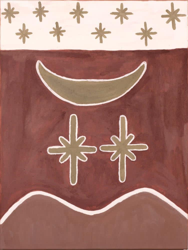 Nancy Daylight Karrgin ngarrangki natural ochre and pigments on canvas 80 x 60 cm