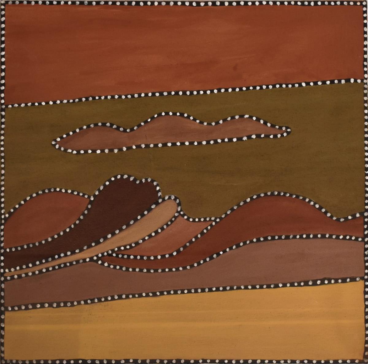Beerbee Mungnari Colins Creek, 2010 Natural ochre & pigment on canvas 80 x 80 cm
