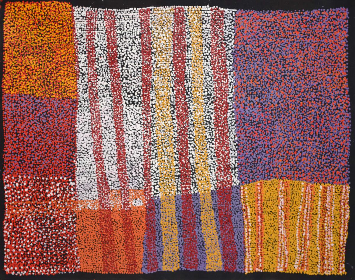 Patju Presley Stanley Makurapiti acrylic on linen 110 x 85 cm
