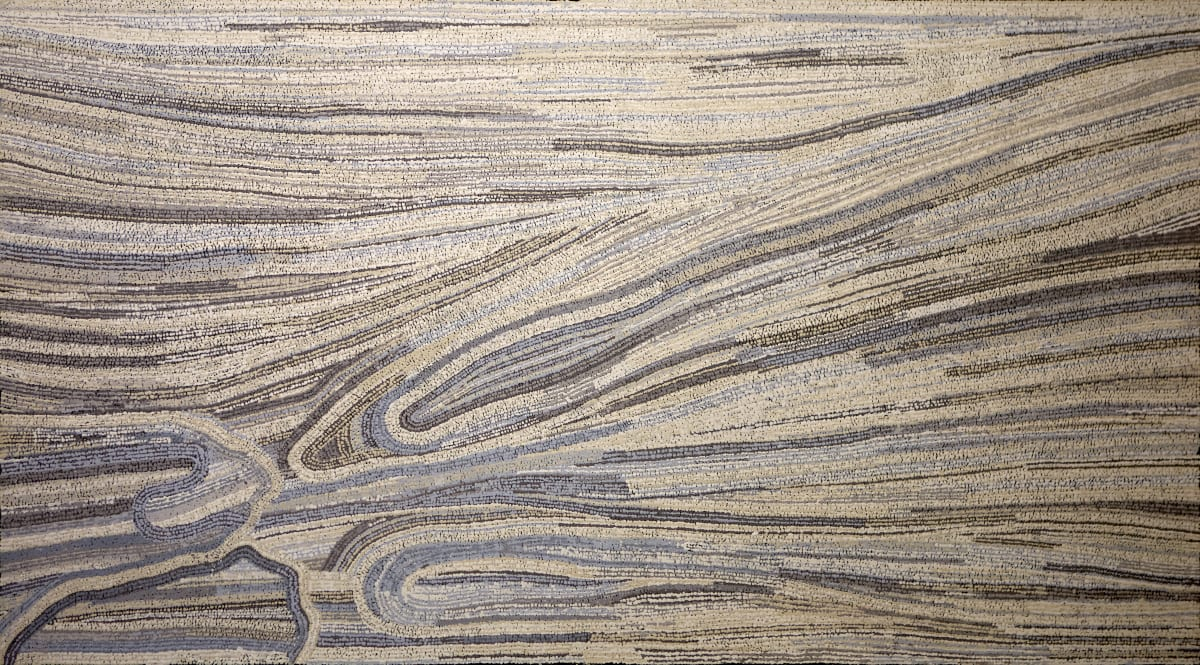 Yurpiya Lionel Anumara, 2018 acrylic on linen 100 x 170 cm