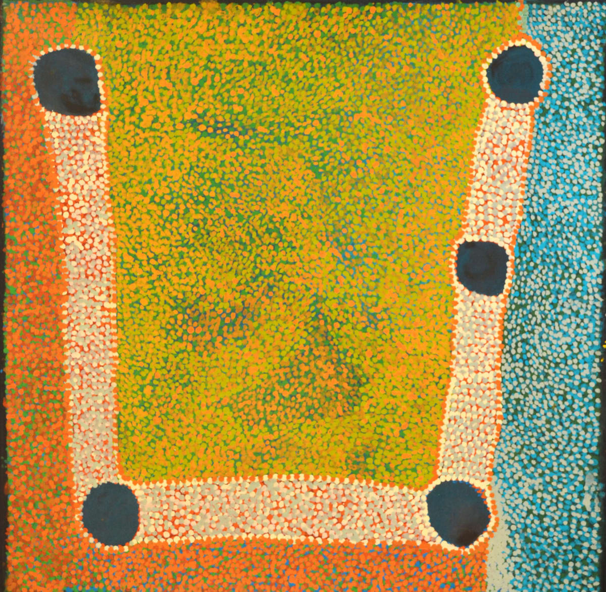 Gordon Ingkatji Wanampi mankur mankurpa kutjara kutjara acrylic on canvas 76 x 76 cm