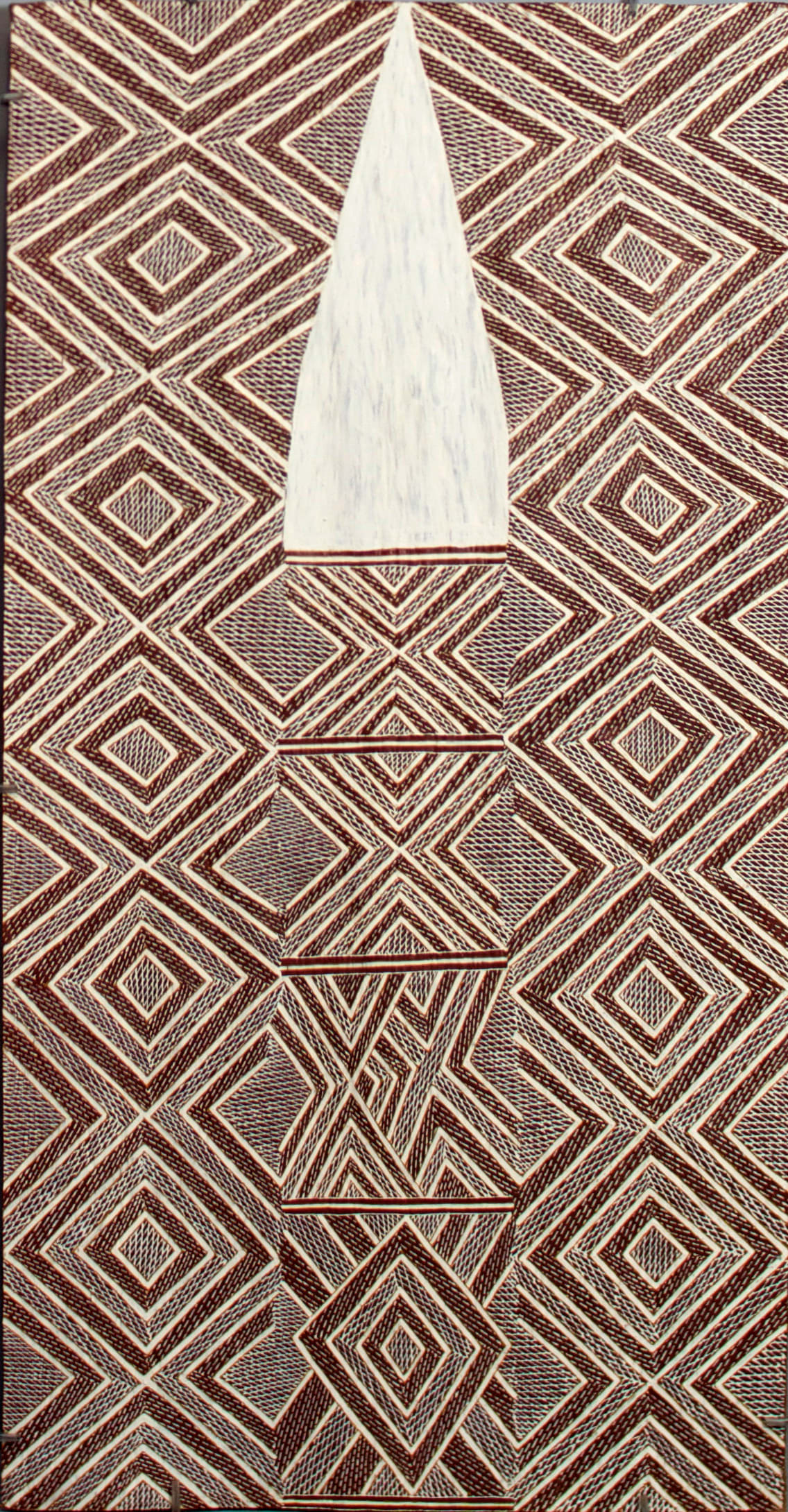 Garawan Wanambi Marranu at Raymangirr natural earth pigment on bark 57 x 92 cm