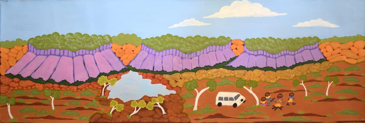 Betty Conway Illari Spring, Tempe Downs acrylic on linen 13.5 x 120 cm