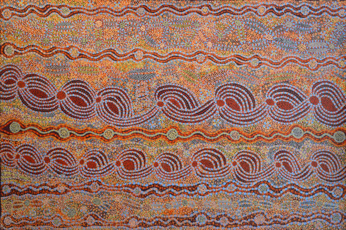 Betty Chimney Ngura (Country) acrylic on canvas 112 x 167 cm