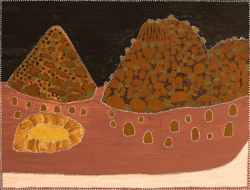 Kathy Ramsay Black Hill natural ochres on canvas 120 x 90 cm
