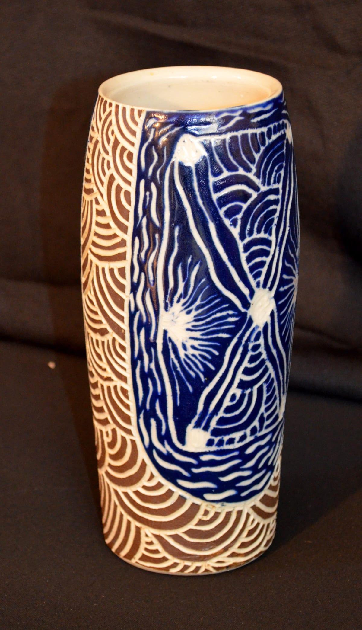 Linda Stanley Ngayuku ngura Stoneware 22 x 8.5 x 8.5 cm