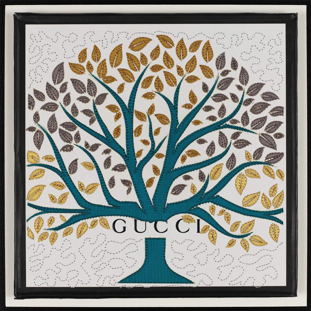 Stephen Wilson, Gucci Tree (Teal), 2019