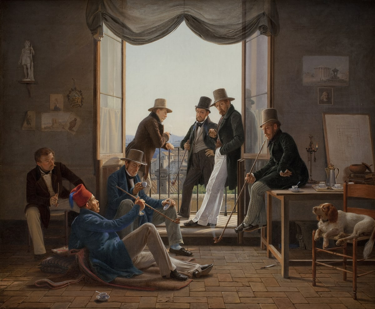 Constantin Hansen A Group of Danish Artists in Rome, 1837 Oil on canvas 62 x 74 cm 24 3/8 x 29 1/8 in