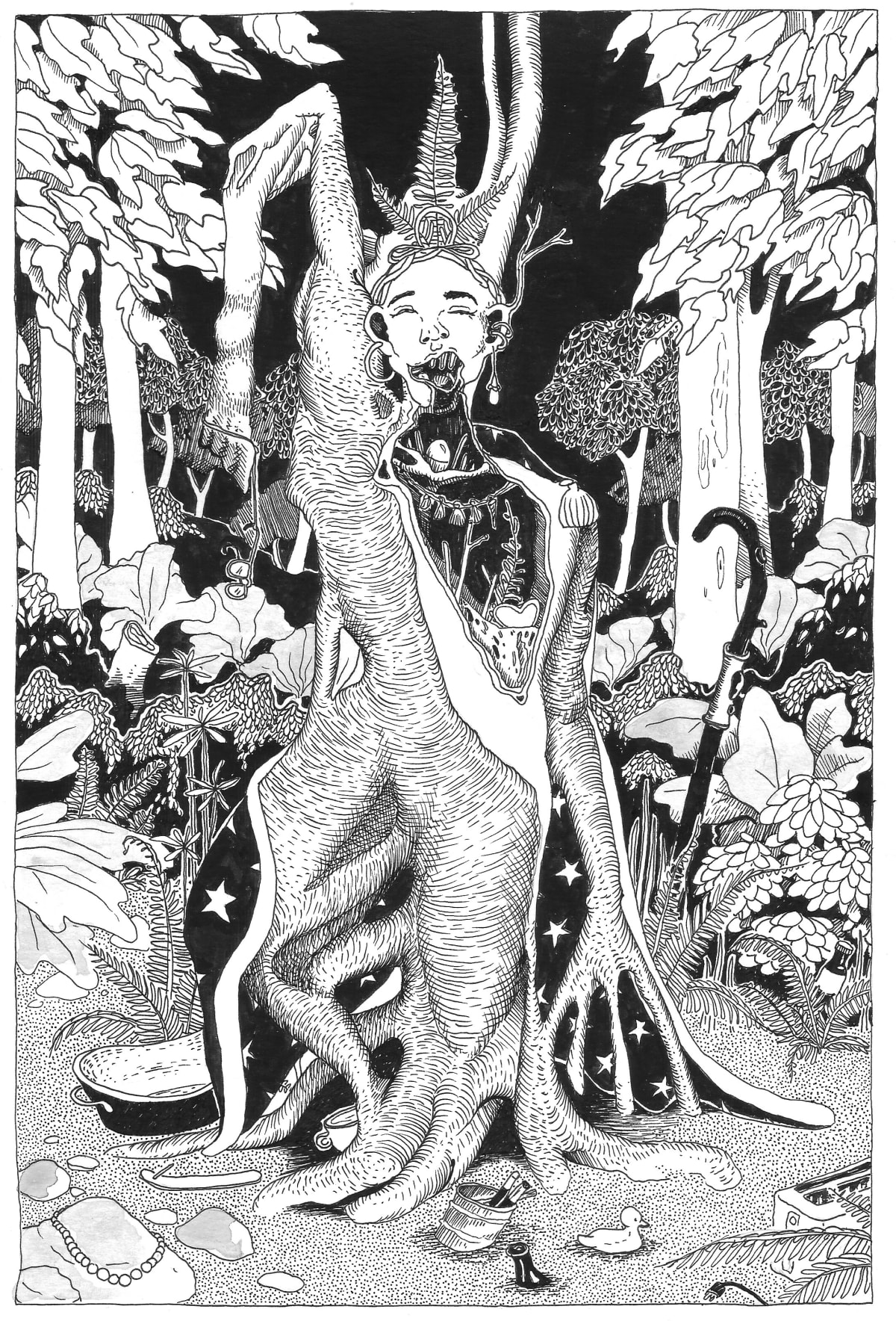 Asa Benson-Core, The Mad Tree King, 2019