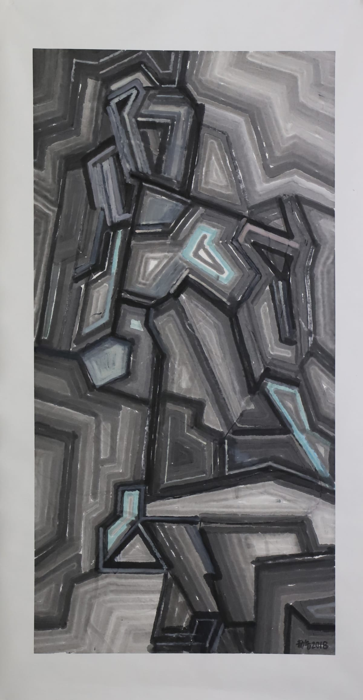 Wang Jieyin 王劼音, Structural Landscape 1 結構山水之一, 2018