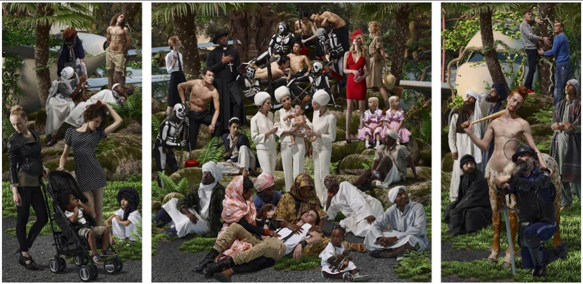 AES+F, Allegoria Sacra , Jungle Elegy (triptych), 2012