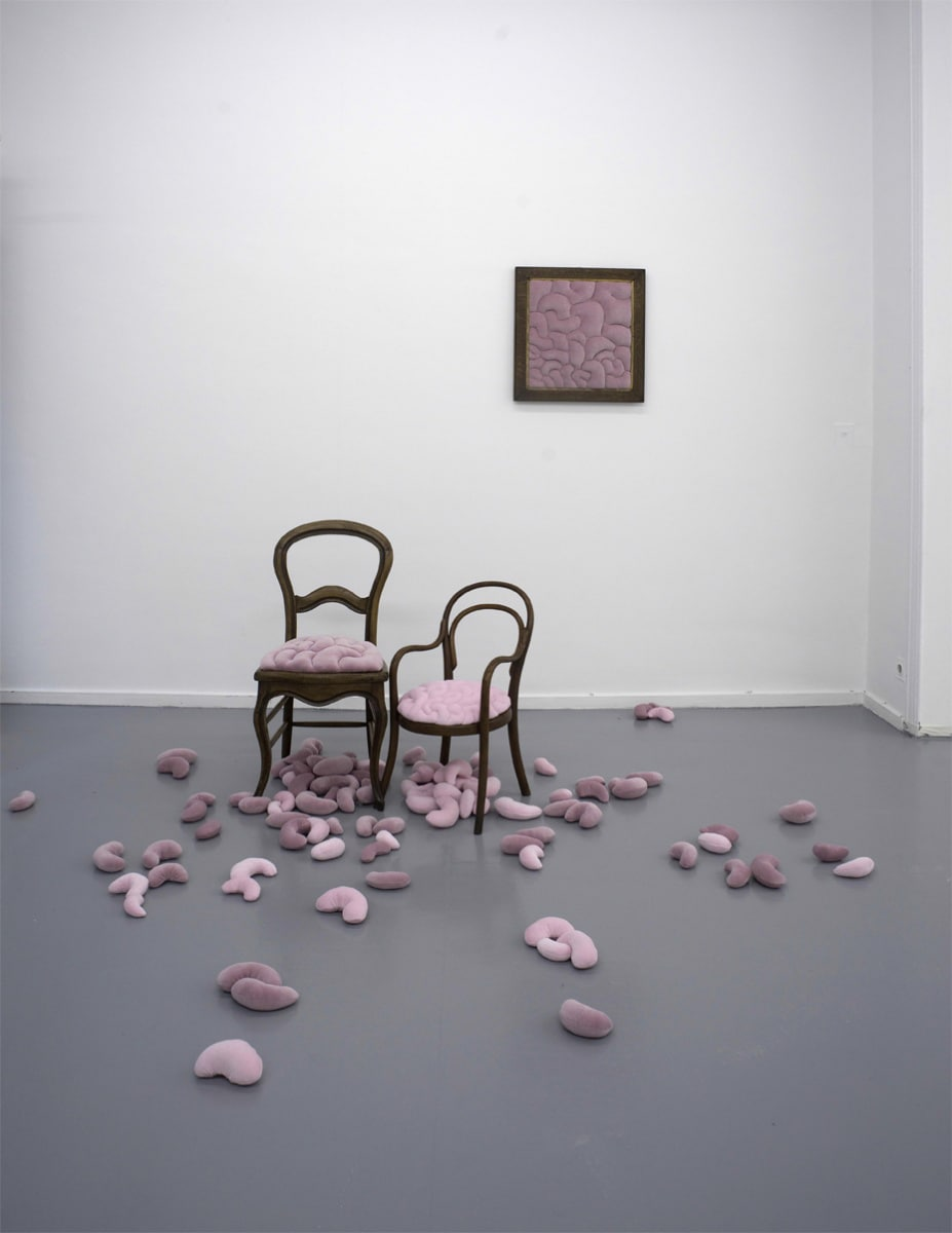 Elodie ANTOINE, Contamination textile rose - Contamination with pink textile, 2009