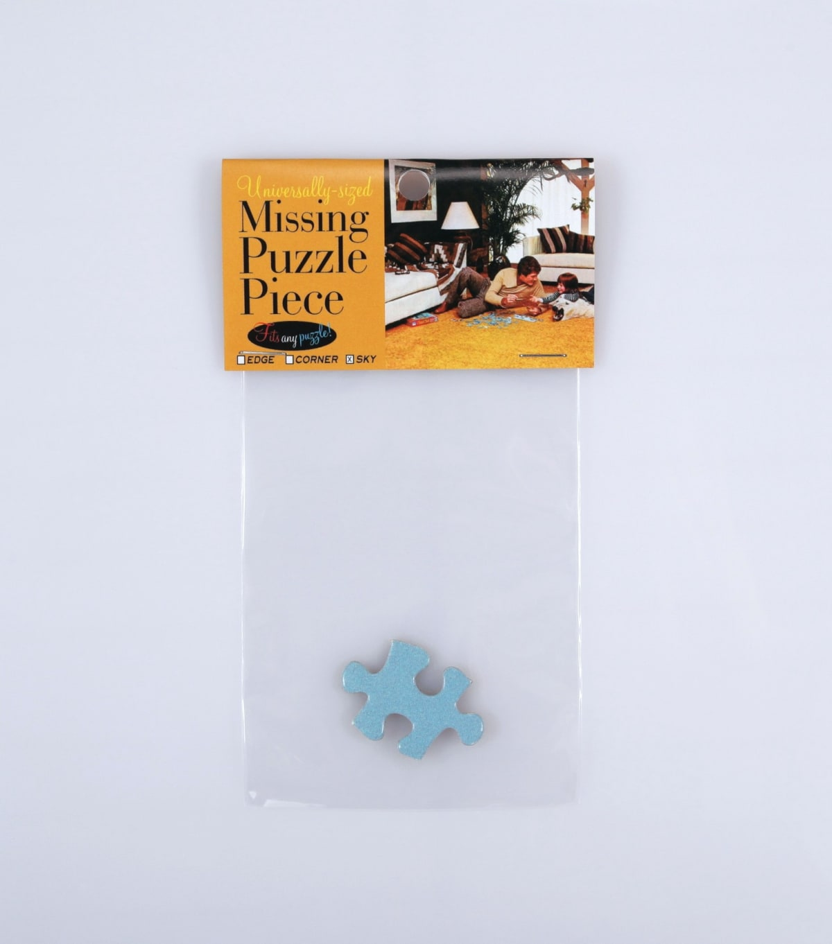 Universally-sized missing puzzle piece