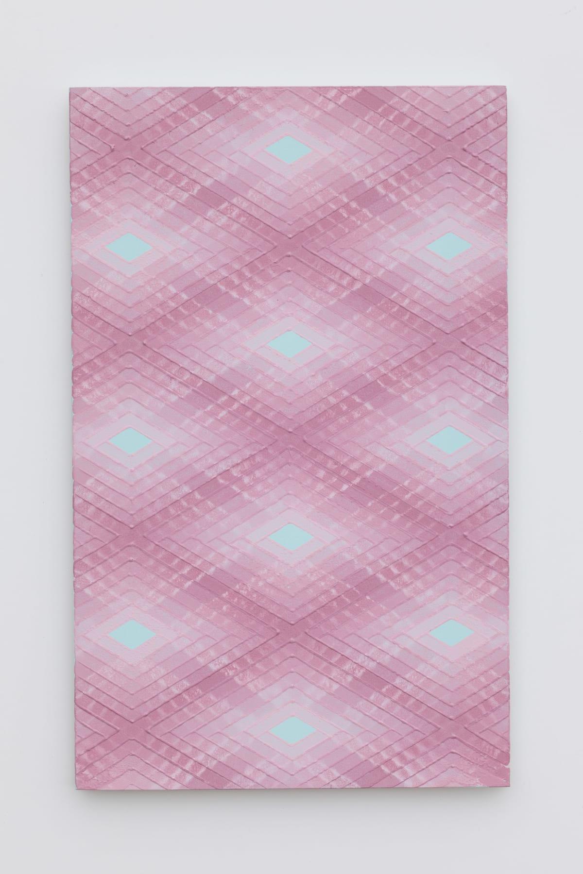 Will Cruickshank, Pink on turquoise 2, 2019