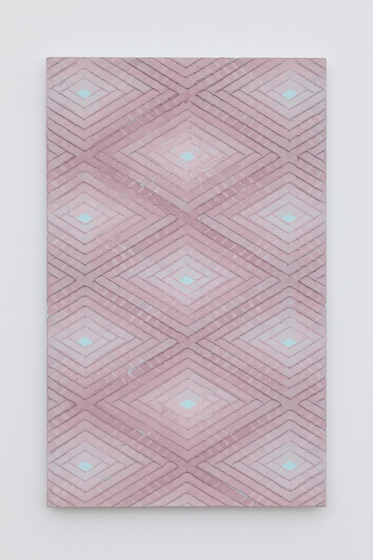 Will Cruickshank, Pink on turquoise 1, 2019