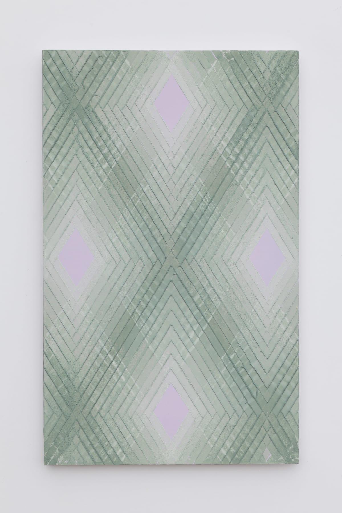 Will Cruickshank, Green on violet 1, 2019