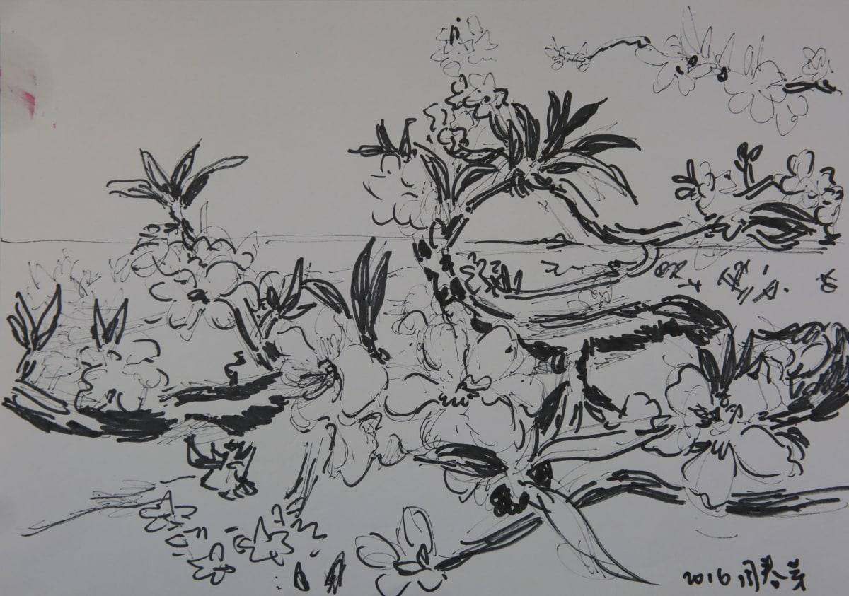 Zhou Chunya, 草圖, 2018