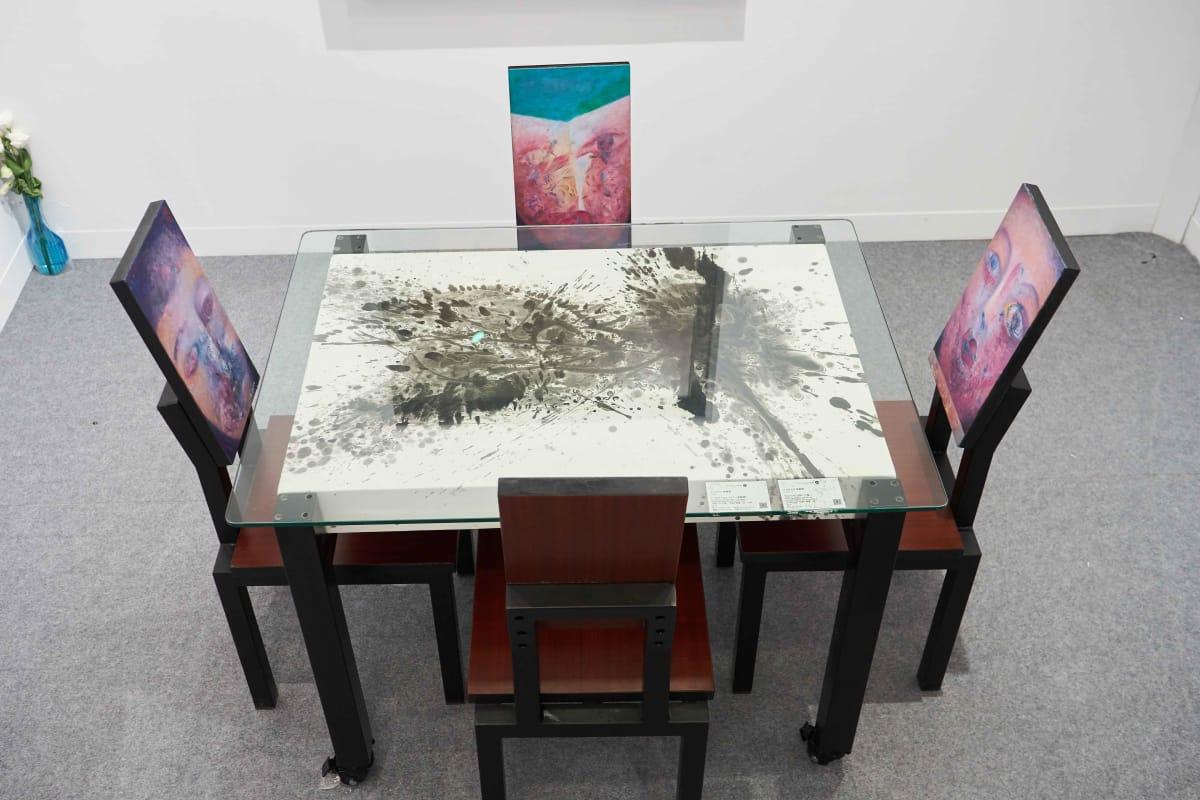 Alixe Fu, A Table of Hybrid Portraits , 2018
