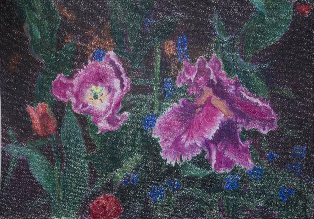 Zhou Chunya, Purple Tulip 紫鬱金香, 2015