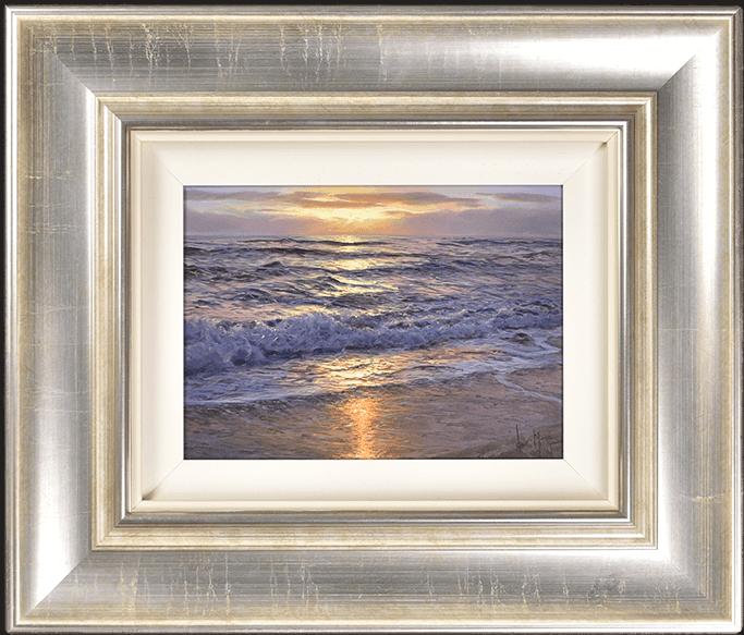 Alfredo Navarro, Sun Setting on the Shore