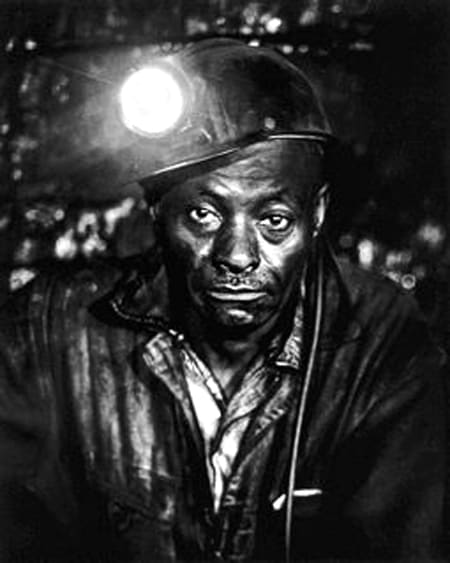 Builder Levy, Toby Moore, Old House Branch Mine, Eastern Coal Company, Pike County, Kentucky, 1970