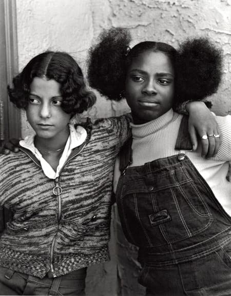 Builder Levy, Jacqueline Santiago and Cathy Lindsey, Bushwick, Brooklyn, New York, 1975