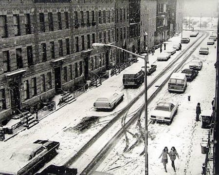 Builder Levy, Snow on Melrose Street, 1981