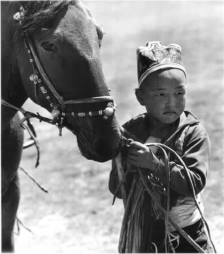 Builder Levy, Boy with Racehorse, Outside Ulan Bator, Mongolia, 1997