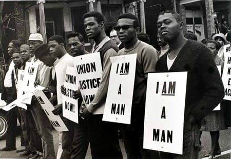 Builder Levy, I Am a Man/Union Justice Now, Memphis, Tennessee, 1968