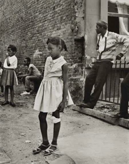 Builder Levy, Girl with Bandaged Knee, Jefferson Avenue, Brooklyn NY, 1965