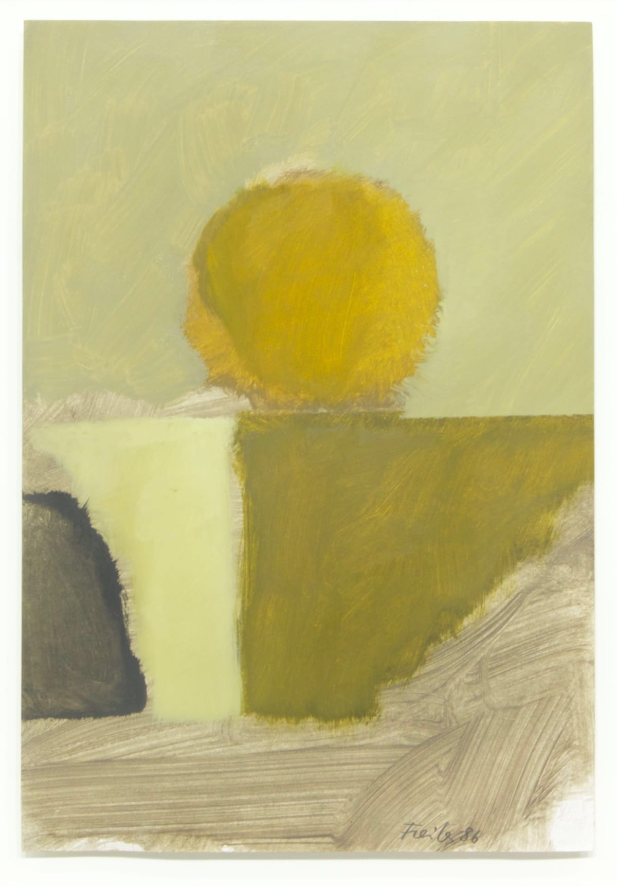 Antonio Freiles SENZA TITOLO, 1986 oil on paper. 48 x 33 cm (18.9 x 13 in)