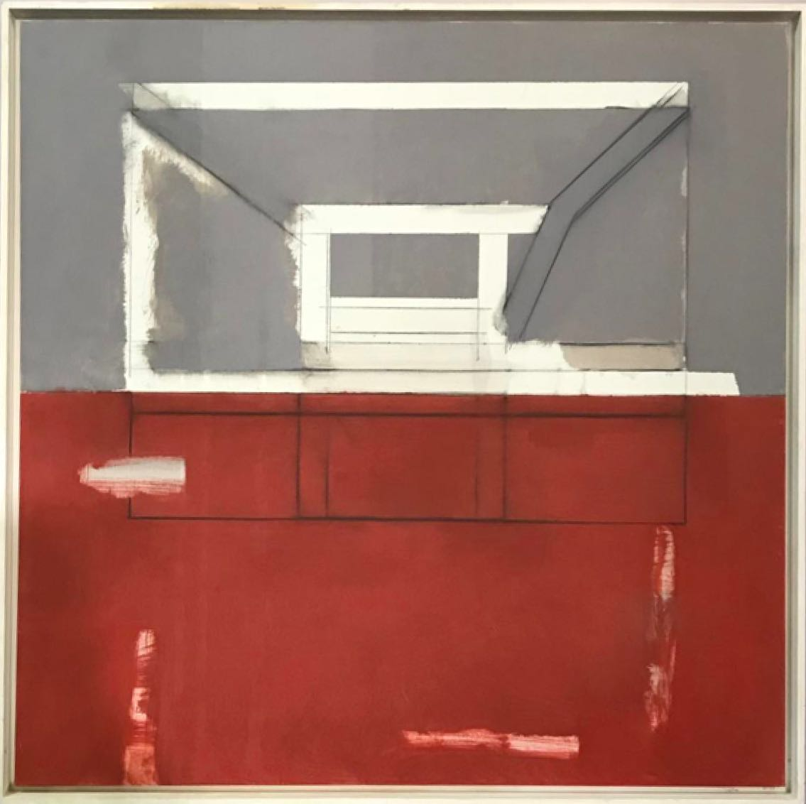 Antonio Freiles ARCHITECTURE, 2009 Oil and graphite on canvas. 100 x 100 cm (39 x 39 in)