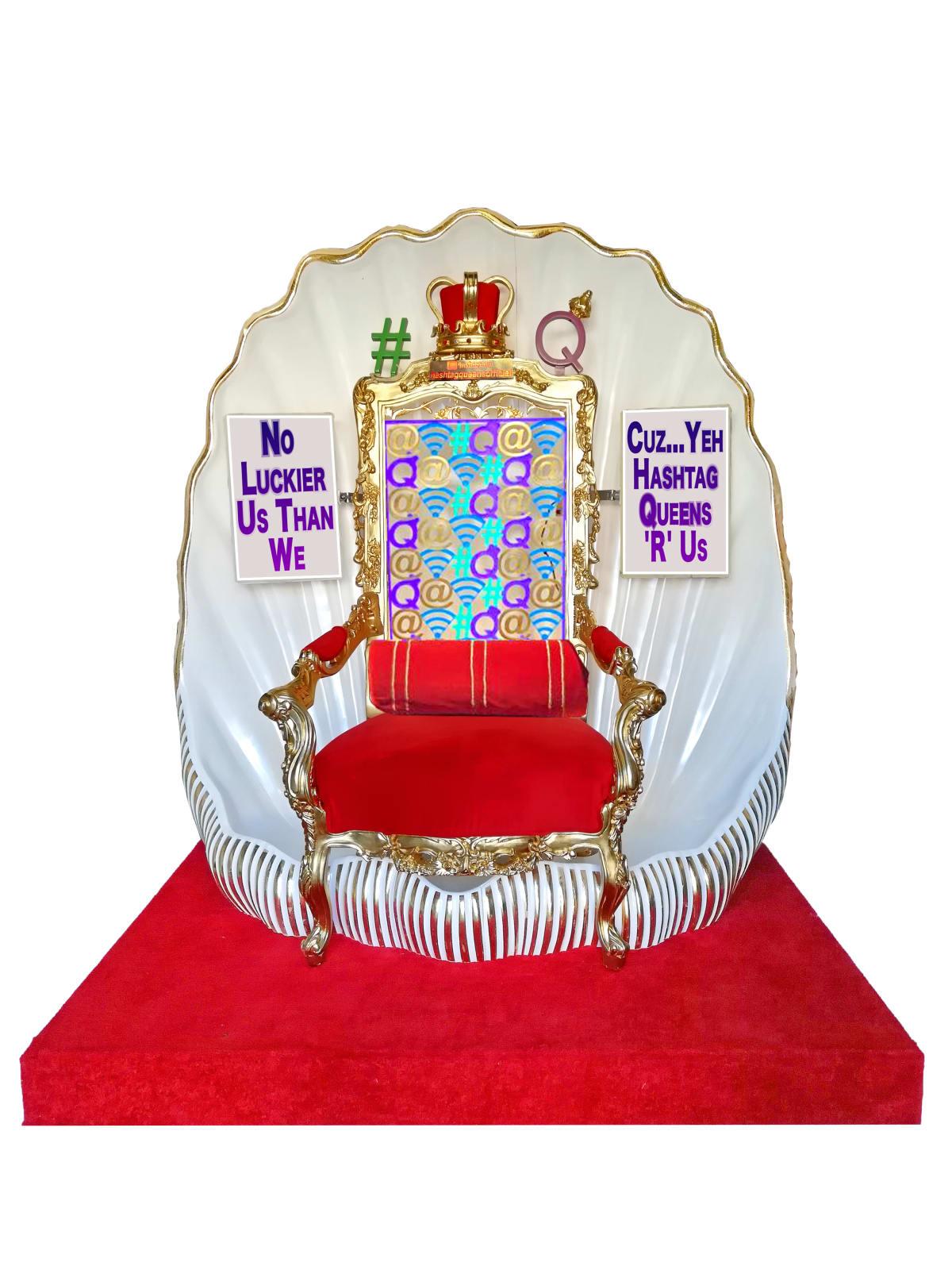 Robodrone Hashtag Queens throne Mix Media